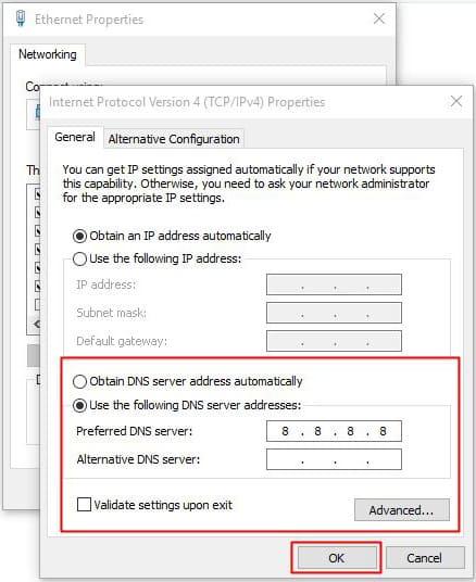 đổi DNS google