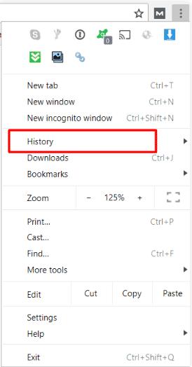 hướng dẫn xóa Cache trên trình duyệt Chrome