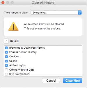 Hướng dẫn xóa cache trên Mozilla Firefox
