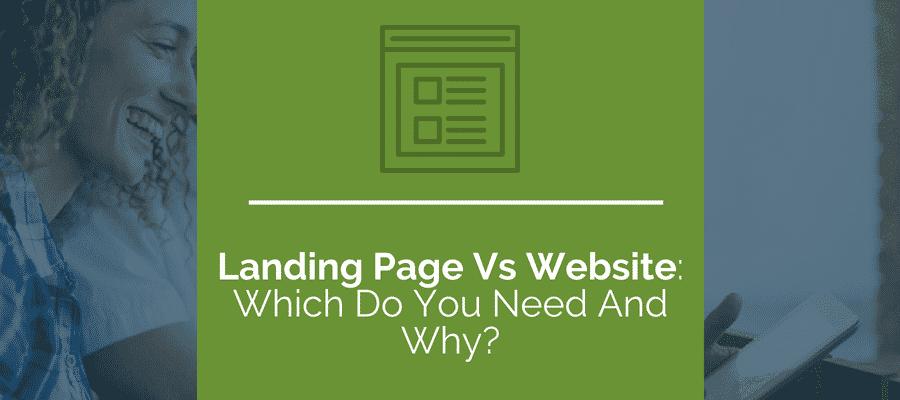 So sánh Landing vs Website