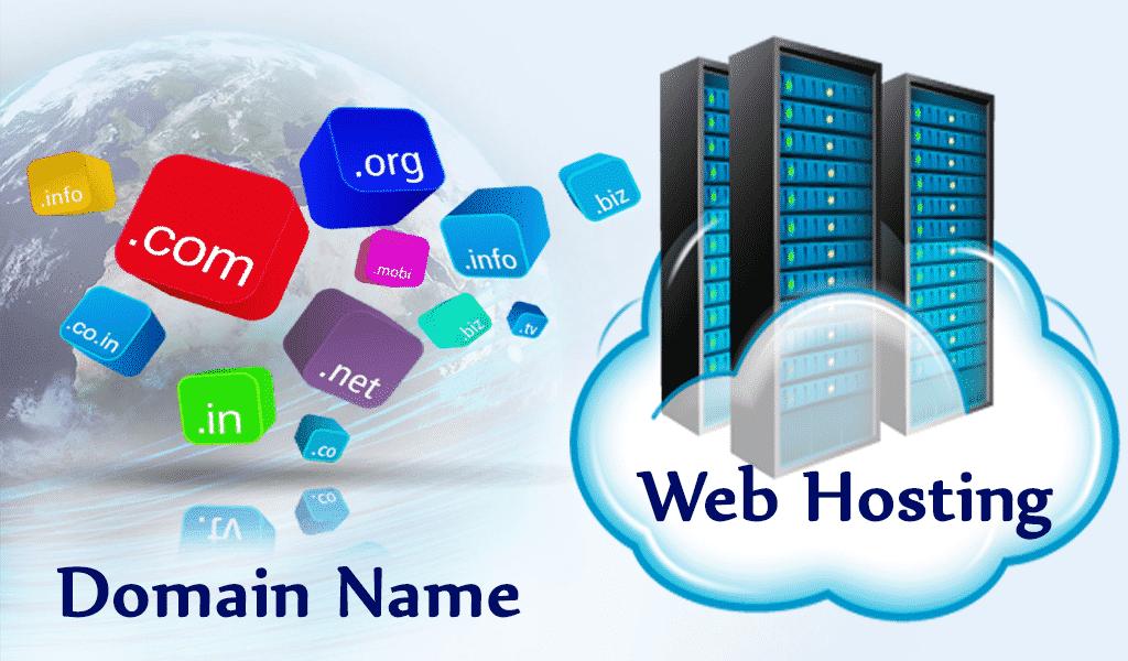 sự liên kết giữa domain name và web hosting