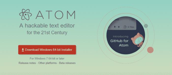 Công cụ viết code atom