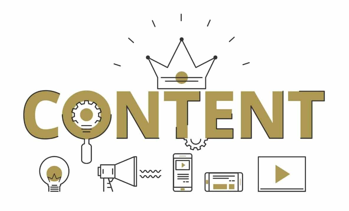 content kết hợp với hình ảnh và video