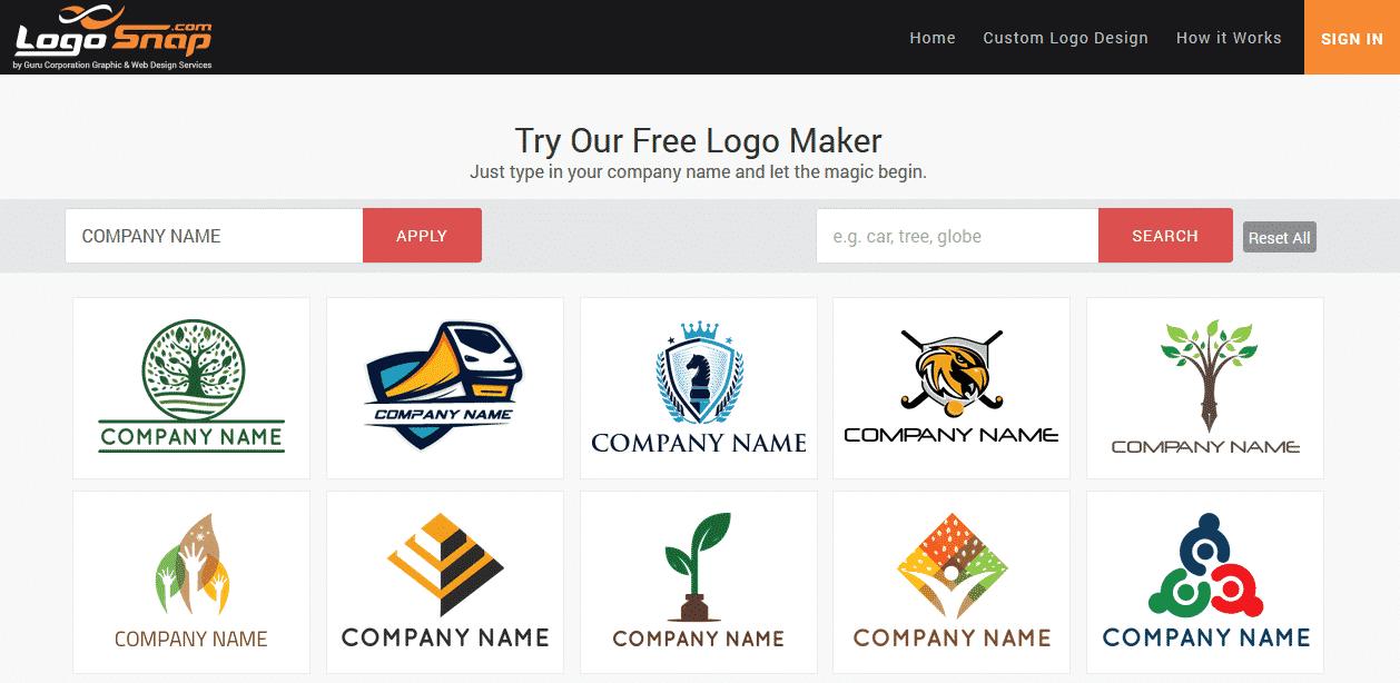 phần mềm thiết kế logosnap