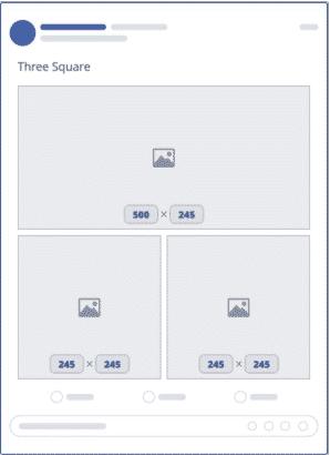 Size chuẩn ba hình vuông