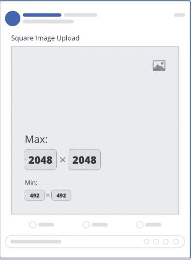 Size chuẩn một hình vuông trên facebook