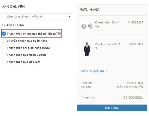 thanh toán trực tuyến qua OnePay