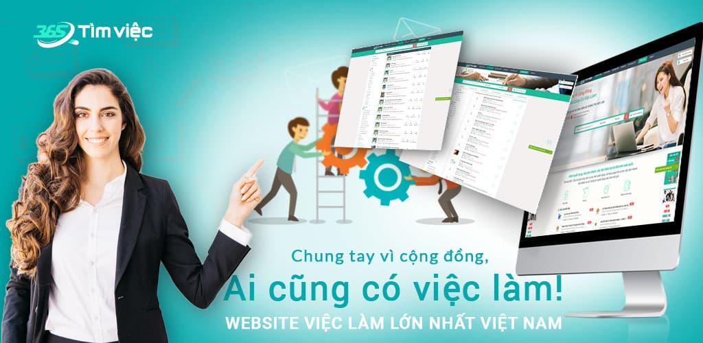 Trang web tuyển dụng Timviec365.com