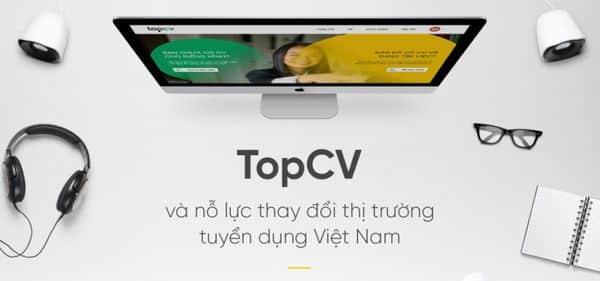 Trang web tuyển dụng TopCV.vn