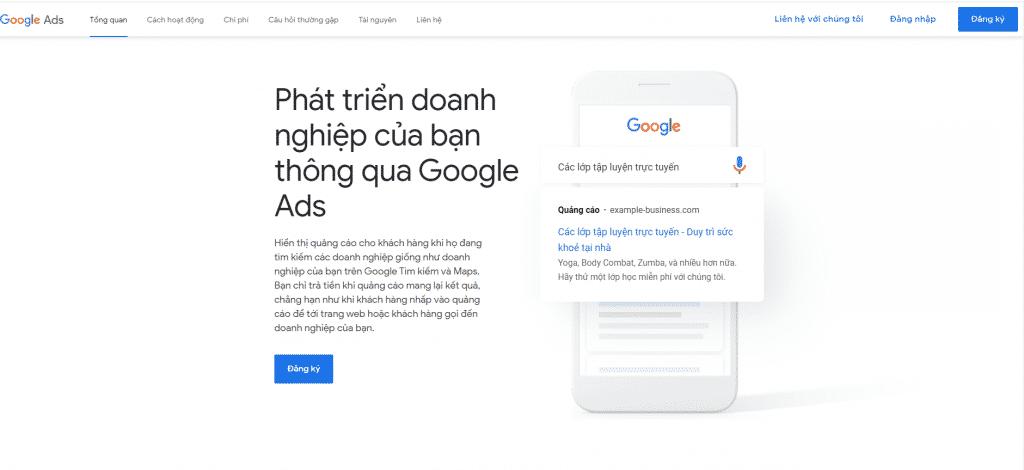 đăng ký google Ads