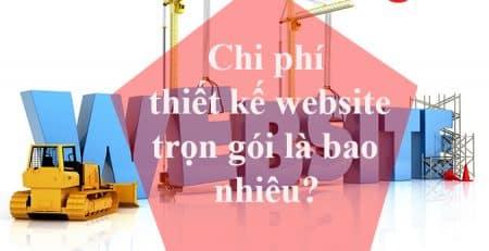 Chi phí thiết kế website trọn gói