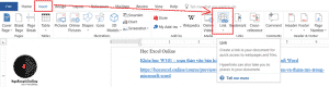 Chọn mục Hyperlink trong tab Insert