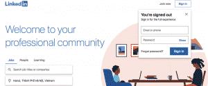tạo tài khoản linkedin bằng email