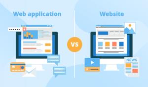 sự khác nhau giữa web application và website